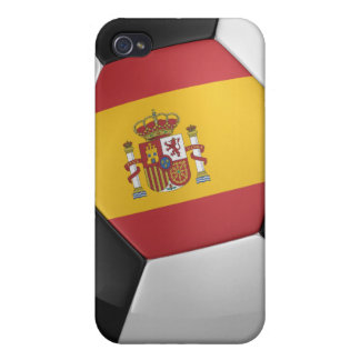 Spain Soccer Ball Cases For iPhone 4