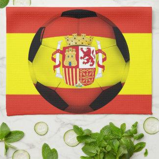 Spain Soccer Ball Hand Towels