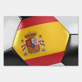 Spain Soccer Ball Lawn Signs