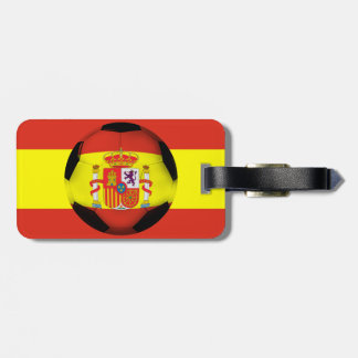 Spain Soccer Ball Tags For Bags