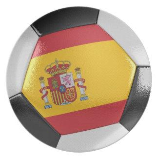 Spain Soccer Ball Plates