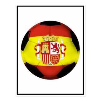 Spain Soccer Ball Postcards