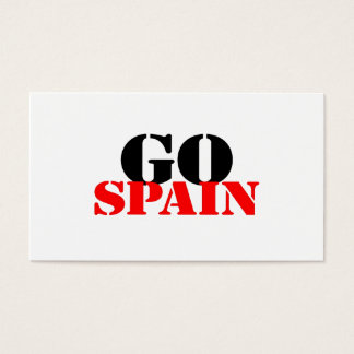 Spain Soccer Business Card