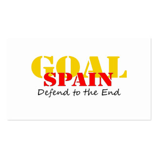 Spain Soccer Business Card