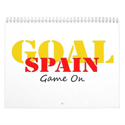 Spain Soccer Wall Calendar