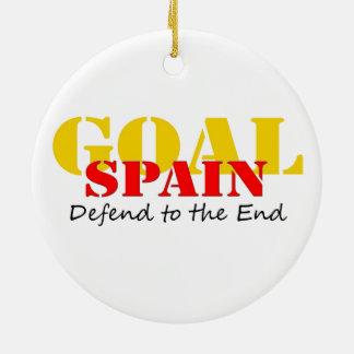 Spain Soccer Ceramic Ornament