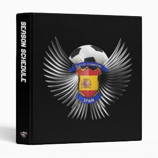 Spain Soccer Champions 3 Ring Binder