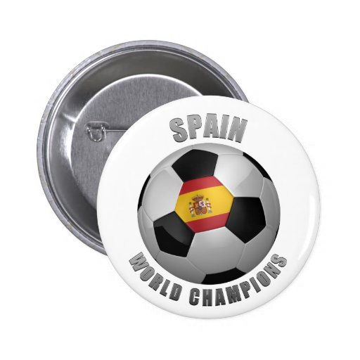 SPAIN SOCCER CHAMPIONS BUTTON