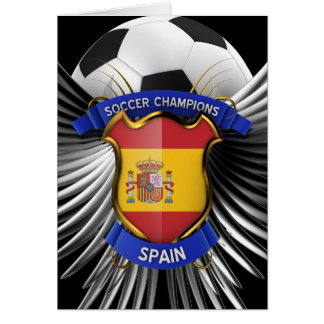Spain Soccer Champions Card