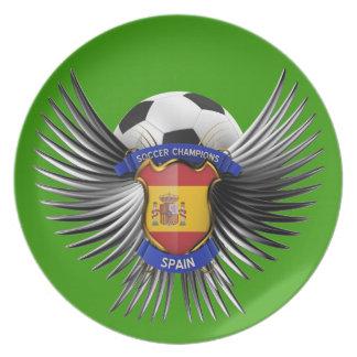 Spain Soccer Champions Dinner Plate