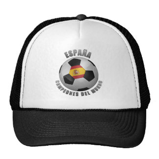 SPAIN SOCCER CHAMPIONS MESH HATS