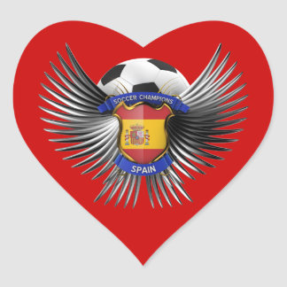 Spain Soccer Champions Heart Sticker