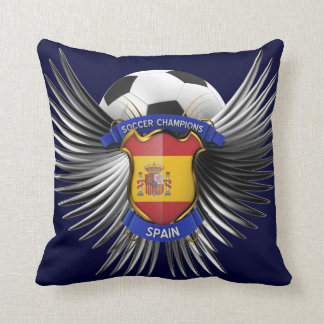 Spain Soccer Champions Throw Pillow
