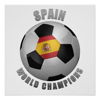 SPAIN SOCCER CHAMPIONS POSTER