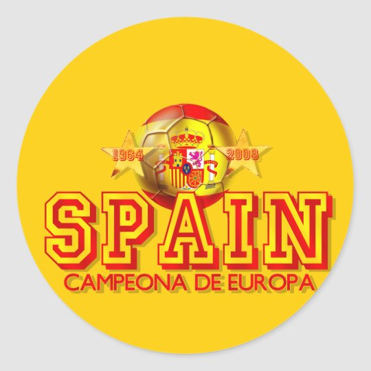 Spain Soccer Classic Round Sticker