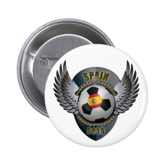 Spain Soccer Crest 2010 Button