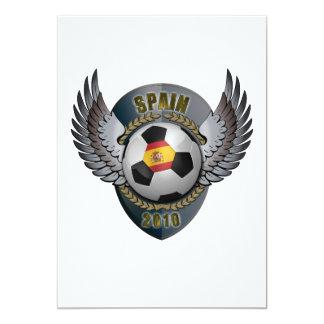 Spain Soccer Crest 2010 Card