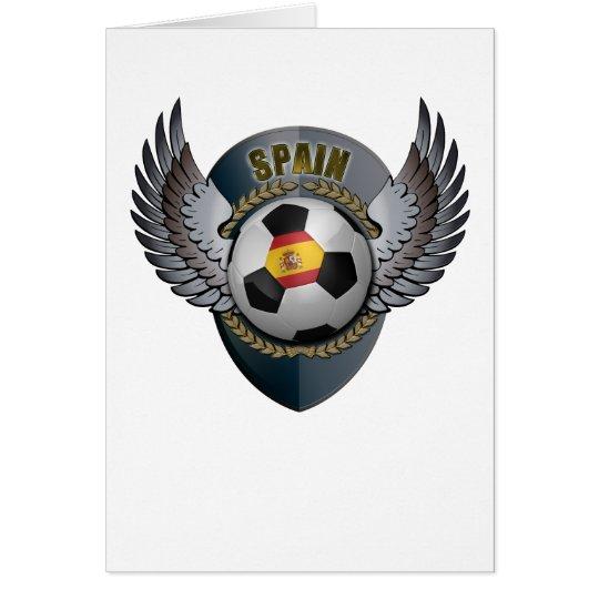 Spain Soccer Crest Card