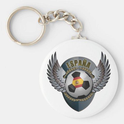 Spain Soccer Crest Keychains