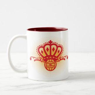 Spain Soccer Crown - Two-Tone Mug