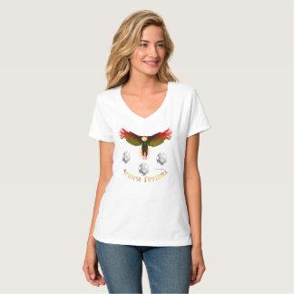 Spain Soccer Eagle Ladies V-Neck Nano T-Shirt