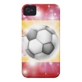Spain soccer flag iPhone 4 Case-Mate cases