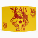 Spain Soccer futbol binder file 2010 gifts