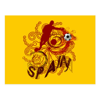 Spain soccer futbol Spanish art explosion Postcard