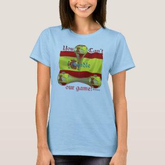 Spain Soccer Game On Ladies Babydoll T-Shirt