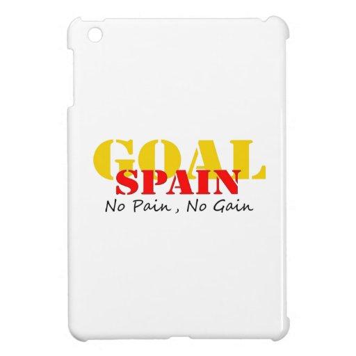 Spain Soccer Goal No Pain No Gain iPad Mini Cover