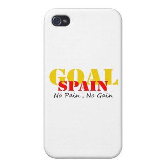 Spain Soccer Goal No Pain No Gain iPhone 4 Case