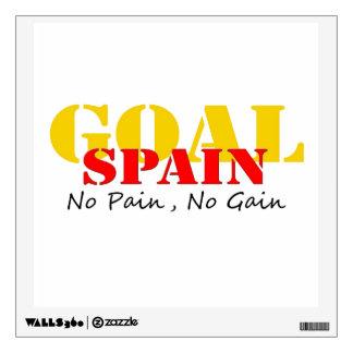 Spain Soccer Goal No Pain No Gain Room Sticker