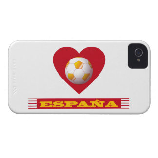 SPAIN Soccer Heart and Scarf Brazil 2014 Case-Mate iPhone 4 Case