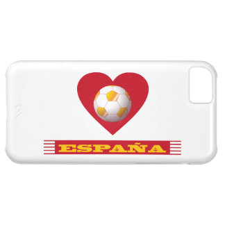 SPAIN Soccer Heart and Scarf Brazil 2014 Cover For iPhone 5C