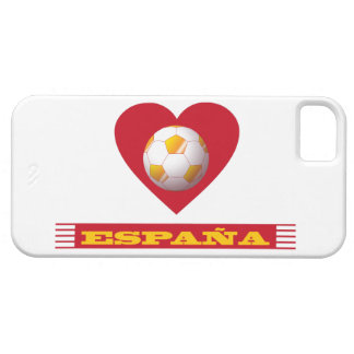 SPAIN Soccer Heart and Scarf Brazil 2014 iPhone SE/5/5s Case