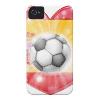 Spain soccer heart flag Case-Mate iPhone 4 cases
