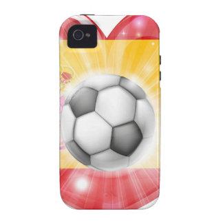 Spain soccer heart flag iPhone 4/4S cover