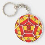 Spain Soccer Key Chain