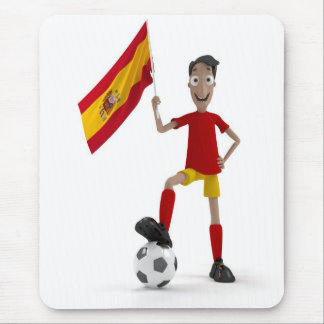 Spain soccer mouse pad