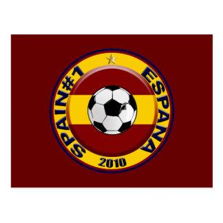 Spain soccer number 1 Soccer Ball Postcard
