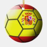 Spain Soccer Ornament