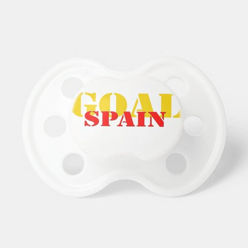 Spain Soccer Baby Pacifiers