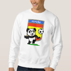 Men's Basic Sweatshirt with Spanish Football Panda design