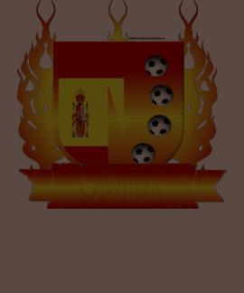 Spain Soccer Shield3 Men's Poly-Cotton T-Shirt