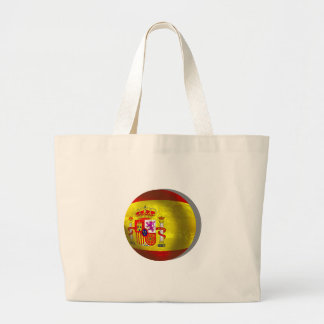 Spain Soccer Spain Grunge ball art gifts Jumbo Tote Bag
