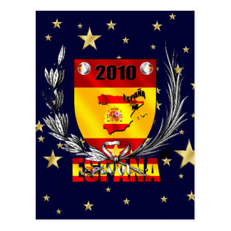 Spain Soccer Stars Shield Postcard