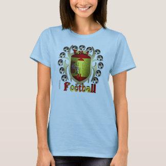 Spain Soccer Tribal Shield Ladies Babydoll T-Shirt