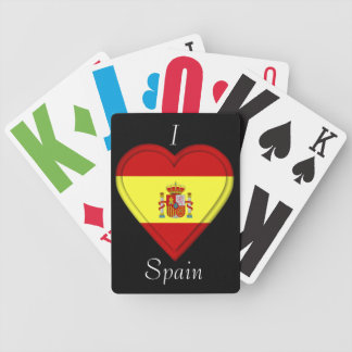 Spain Spanish Flag Bicycle Playing Cards