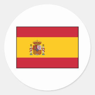 Spain – Spanish Flag Classic Round Sticker