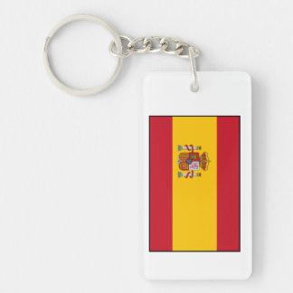 Spain – Spanish Flag Double-Sided Rectangular Acrylic Keychain